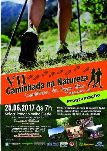"""Inscrições abertas para a 7ª Caminhada na Natureza """"Caminhos da Água Boa"""""""