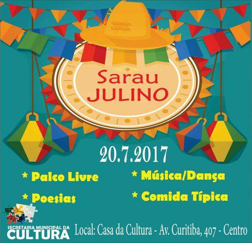Jovens da Secretaria de Cultura realizarão Sarau Julino
