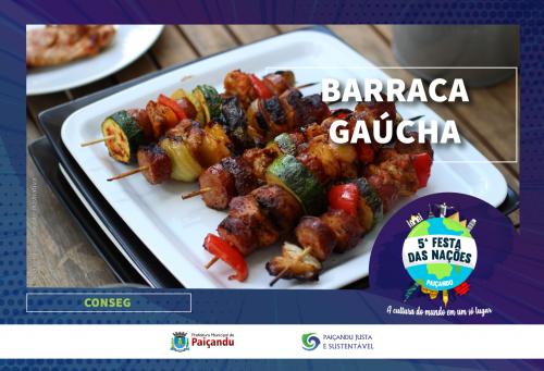 Confira as barracas de comidas típicas que estarão presentes na 5ª festa das nações de Paiçandu