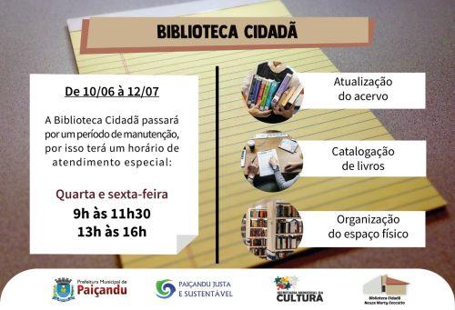 ATENÇÃO - Biblioteca Cidadã