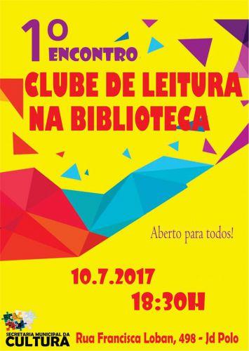 1º Encontro do Clube de Leitura na Biblioteca Cidadã acontece hoje