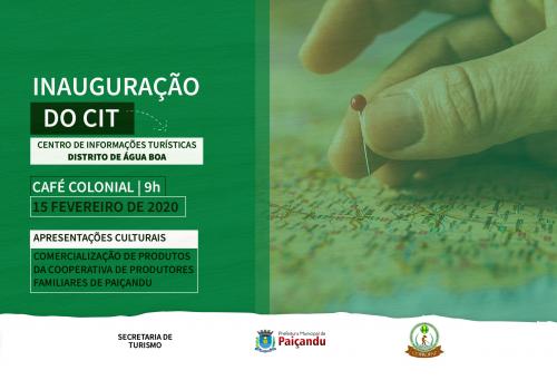 Convite   Inauguração do Centro de Informações Turísticas