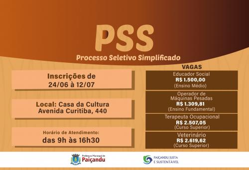 Inscrições para o PSS irão até 12 de julho