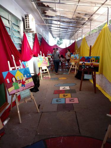 Mostra de artes no CMEI Francisco Matheus