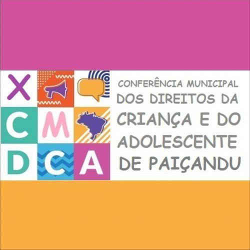 Programação Pré-Conferências Municipal dos Direitos da Criança e do Adolescente de Paiçandu - 2018
