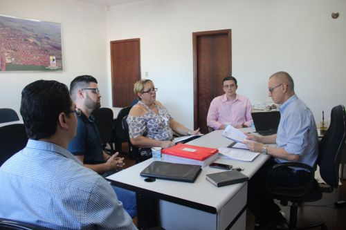 Prefeito discute segurança público com representantes do CONSEG e Polícia Civil