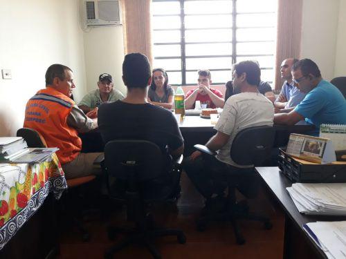 Secretarias da Prefeitura de Paiçandu se reúnem com Corpo de Bombeiro para discutir Defesa Civil
