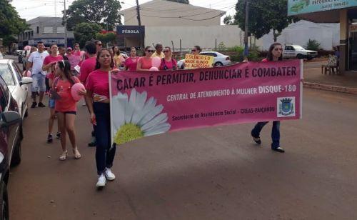 Passeata em combate à violência contra Mulher em Paiçandu