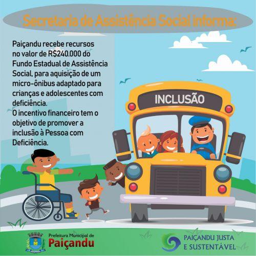 Secretaria de Assistência social informa: