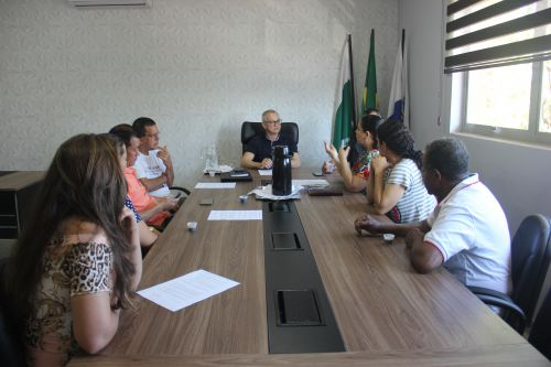 Reunião no paço municipal com a COPROFAP