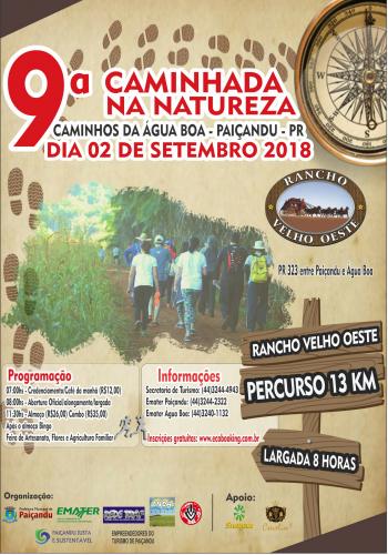 Secretaria de turismo promove a 9ª Caminhada na Natureza - Caminhos da Água Boa