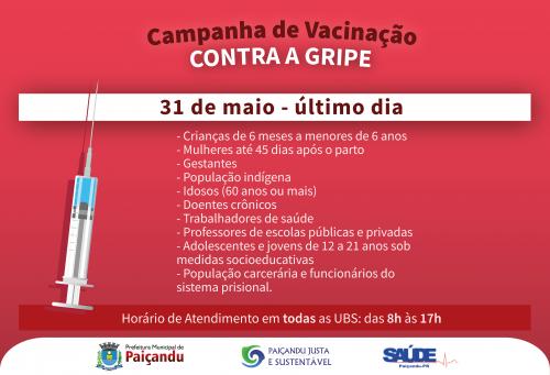 Último dia da Campanha de vacinação contra a gripe