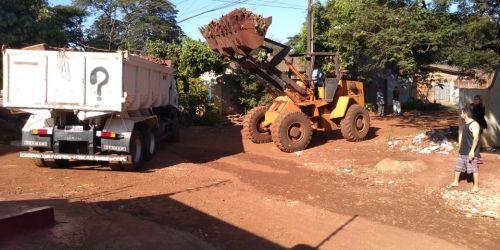 Mutirão de limpeza nos bairros Pacaembu e Novo Horizonte