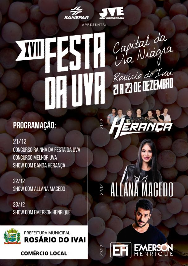 Festa da Uva promete reunir milhares de pessoas em Rosário do Ivaí