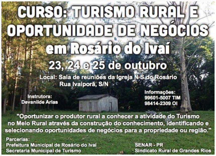 Curso: Turismo Rural e Oportunidade de Negócios