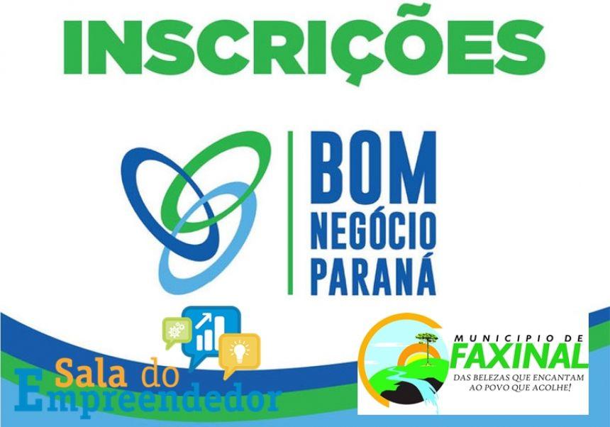 """Inscrições para curso gratuito de capacitação """"Bom do Negócio Paraná"""" vai até 27 de junho"""