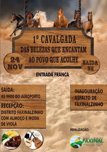 Cavalgada de Faxinal movimenta cavaleiros neste domingo (24)