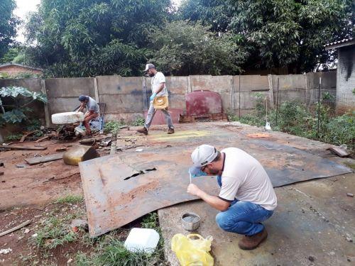 Vigilância Sanitária realiza mais uma ação de  combate a dengue em Faxinal
