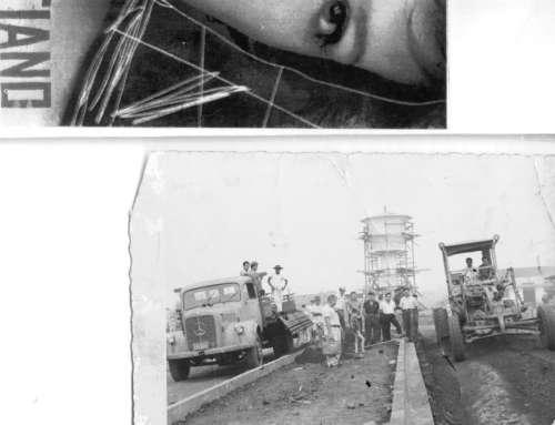Caixa d'água em construção. Foto: Juarez Aparecido Nogueira Gonçalves – Década de 60.