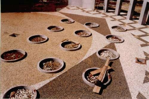 Construção do centro da praça Brasil. Foto: Juarez Aparecido Nogueira Gonçalves – 1996/97.