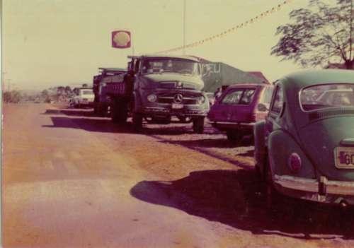 Avenida Andirá. Avenida de acesso – 1975. Foto: Mauro Possale da Silva – 1975.