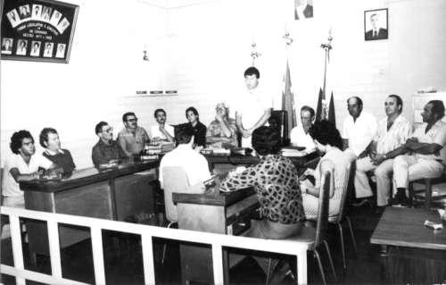 Câmara Municipal de Doutor Camargo. Presidente da Câmara Armando Cavaliere – 1980/82. Foto: Dionísio A. Musiato – 1981.