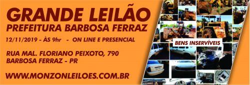 LEILÃO DE VEICULOS DA PREFEITURA DE BARBOSA FERRAZ