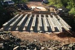 Nova ponte do Pocinho recebe vigas