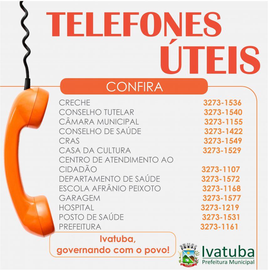 Telefones das secretarias e setores
