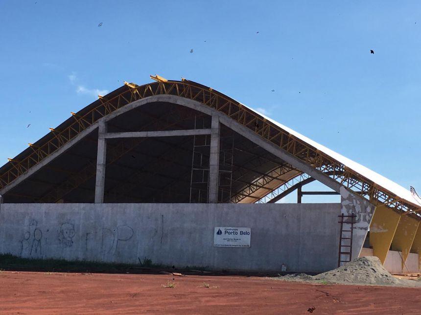 Conclusão da Cobertura da Quadra Poliesportiva da nova Escola Municipal