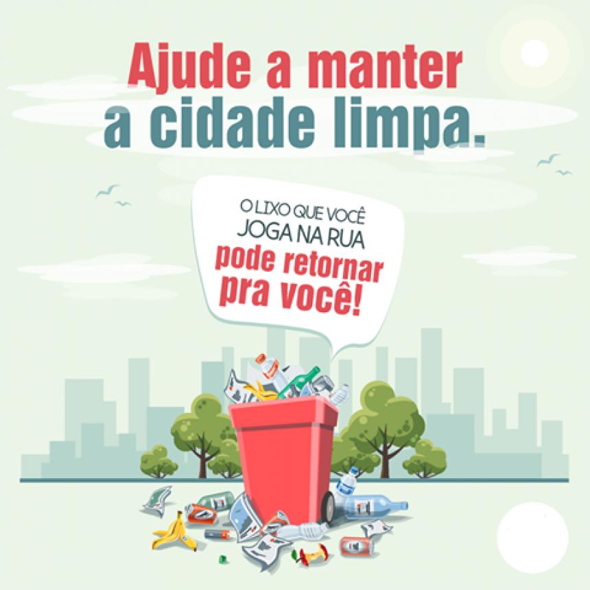 Ajude a manter a cidade limpa