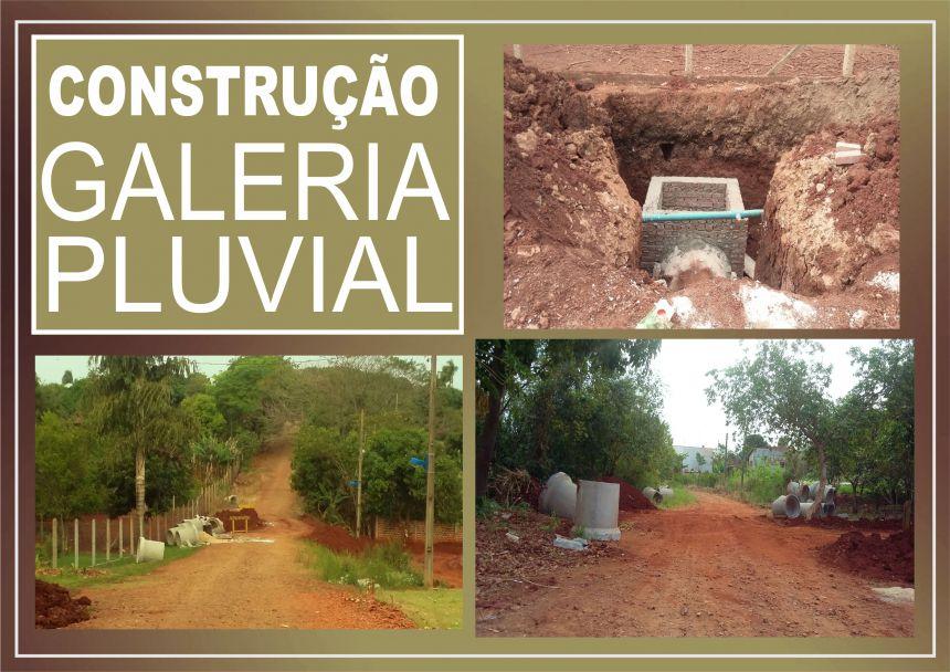 Construção da Galeria Pluvial na Vila Rural