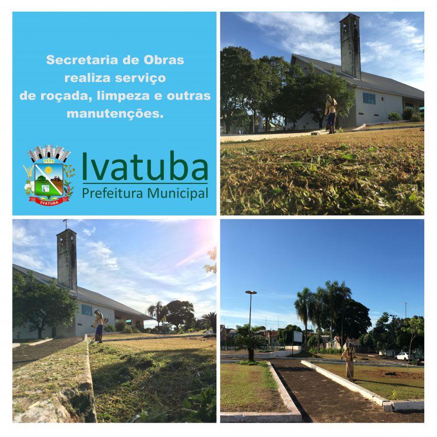 Secretaria de serviços públicos realiza limpeza a manutenção na cidade