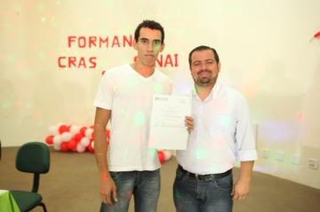 Formatura dos cursos do CRAS/Senai