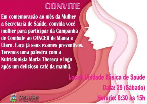 Secretaria de Saúde promove dia da Mulher