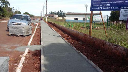 Calçada Ecológica está em ritmo acelerado