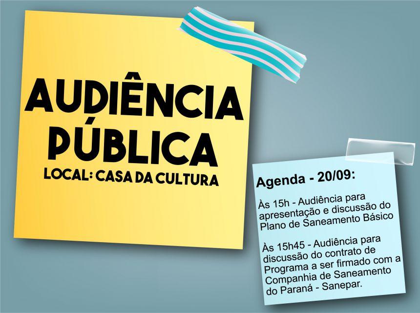 Convocação para Audiência Pública - 20 de setembro de 2017