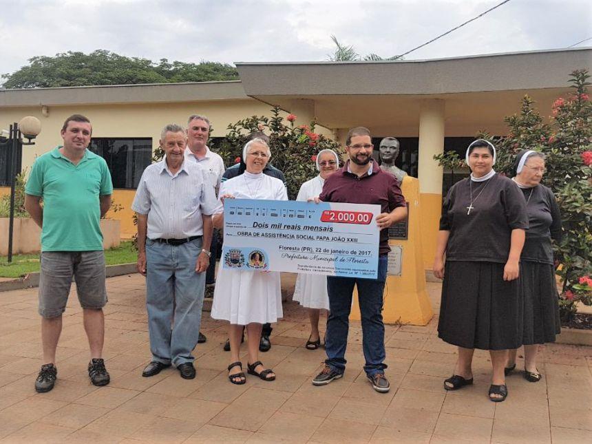 Prefeitura em parceria com a Obra de Assistência Social Papa João XXIII
