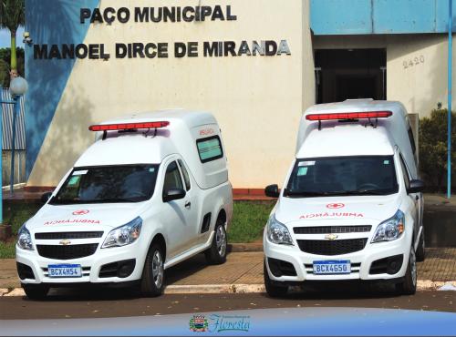 Prefeitura entrega Duas Ambulâncias 0 km