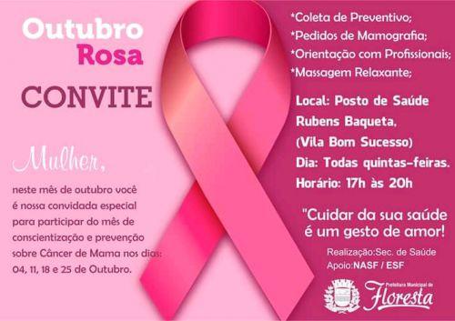 Outubro Rosa - Secretária Municipal de Saúde