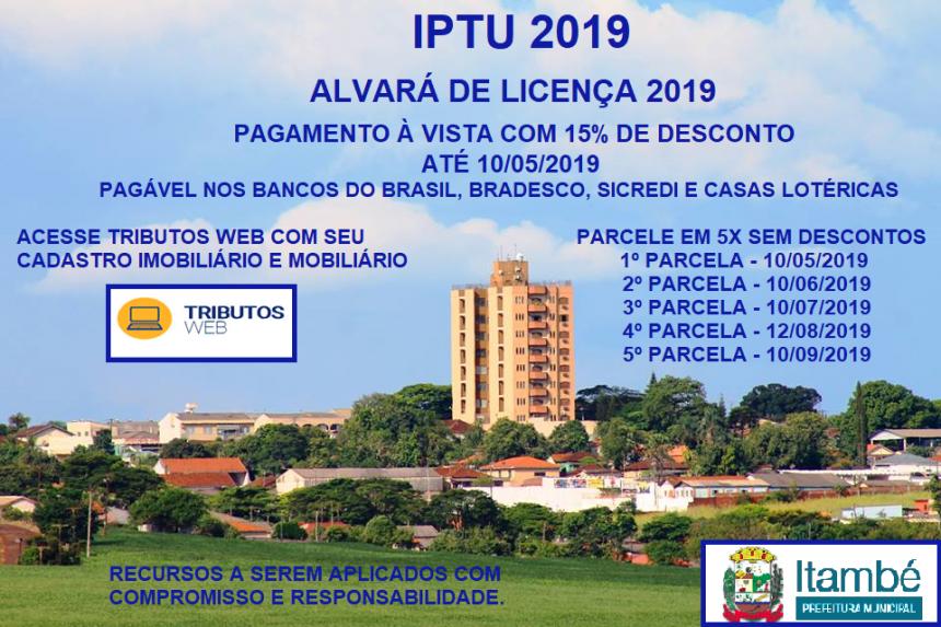 PREFEITURA DE ITAMBÉ LANÇA O IPTU ON LINE
