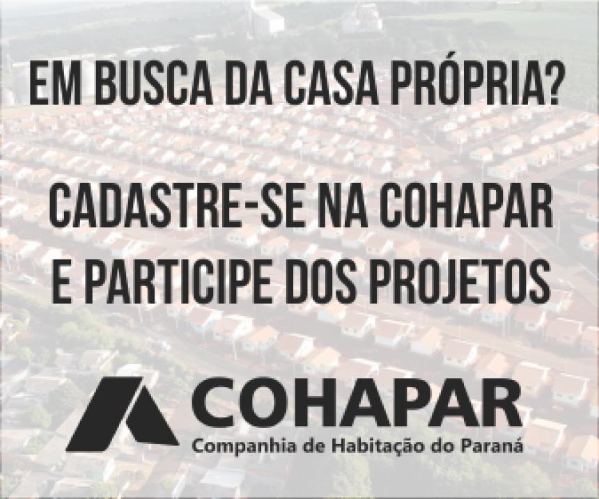 INSCRIÇÃO COHAPAR