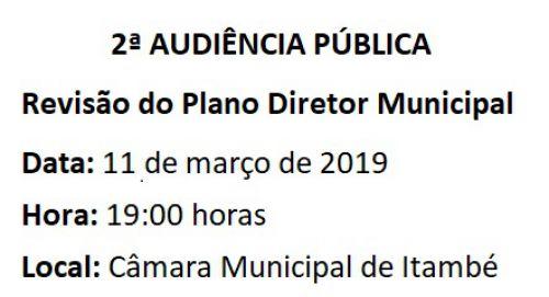 2ª AUDIÊNCIA PÚBLICA de revisão do Plano Diretor Municipal