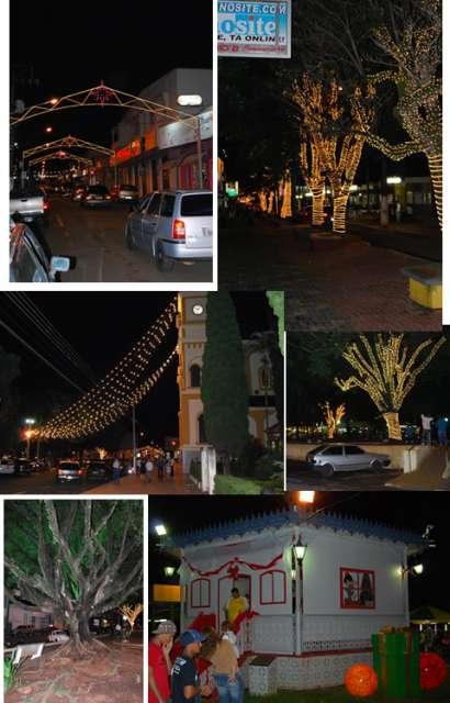 Santo Antônio da Platina está iluminada