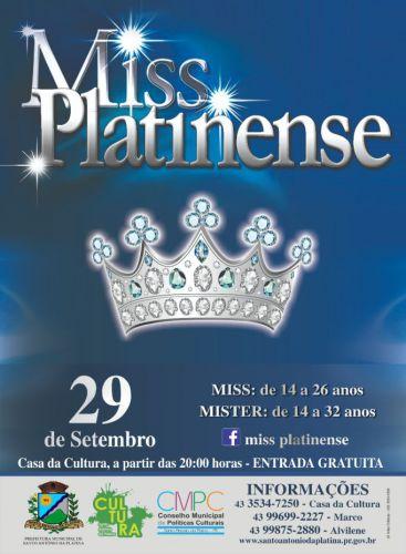 Concurso Miss e Mister Platinense