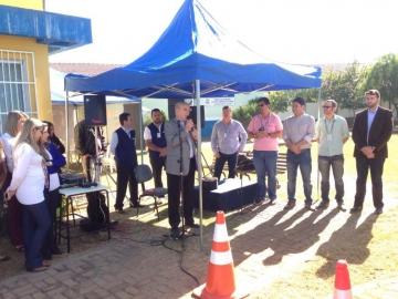 A equipe da Cohapar/ ERCP nesta manhã (03/0
