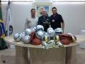 Prefeito consegue materiais novos designados para o esporte em Santo Antônio da Platina
