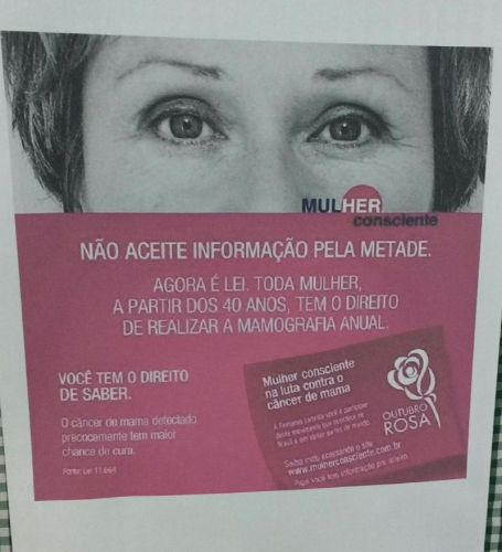 SMAS - CAMPANHA OUTUBRO ROSA