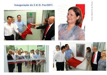Prefeita Maria Ana inaugura CEO em Santo Antônio da Platina