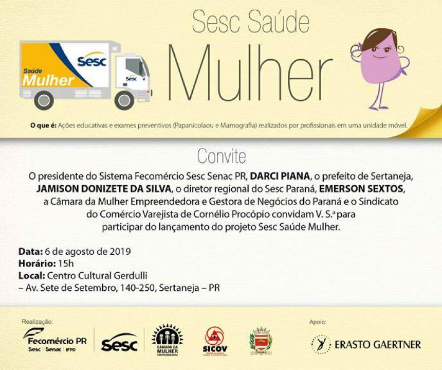 O Sesc Saúde Mulher chegou em Sertaneja!!!